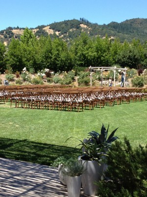 Beautiful Napa Valley Ceremony view