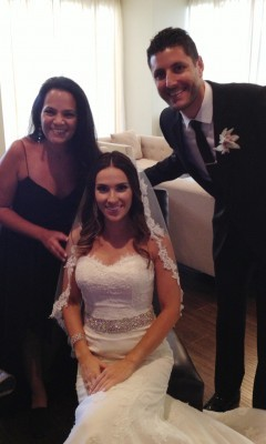 With the bride and groom just before the ceremony- excited...